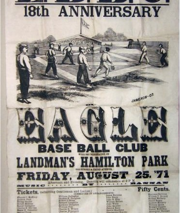 Eagle Baseball Club Broadside