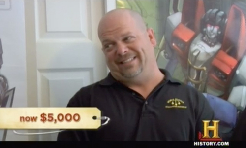 pawn stars transformers - Rick tries to make a deal
