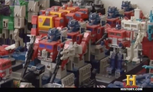 Massive Transformers collection found on Pawn Stars