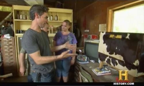 american pickers frank cowhide refrigerator