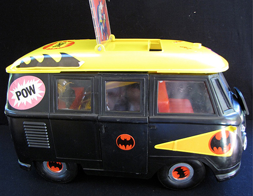 1974 vintage Mego Batman mobile bat lab