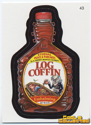 wacky packs - Log Coffin