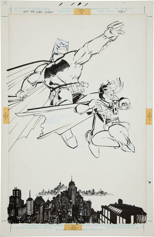 frank miller dark knight artwork