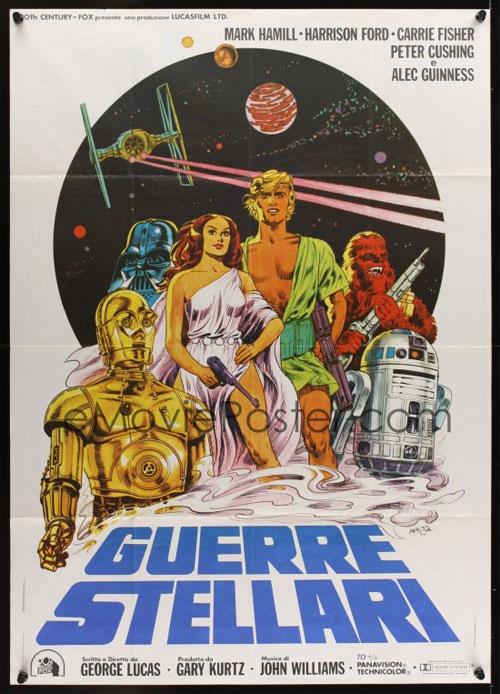 Vintage Italian Star Wars poster