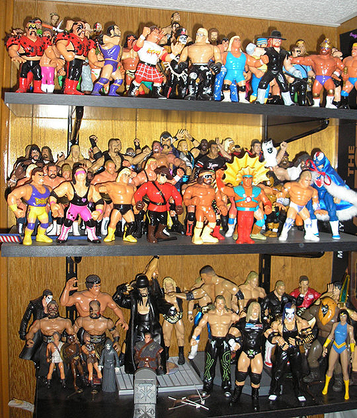 tanski - wwe and wwf wrestlers collection of action figures