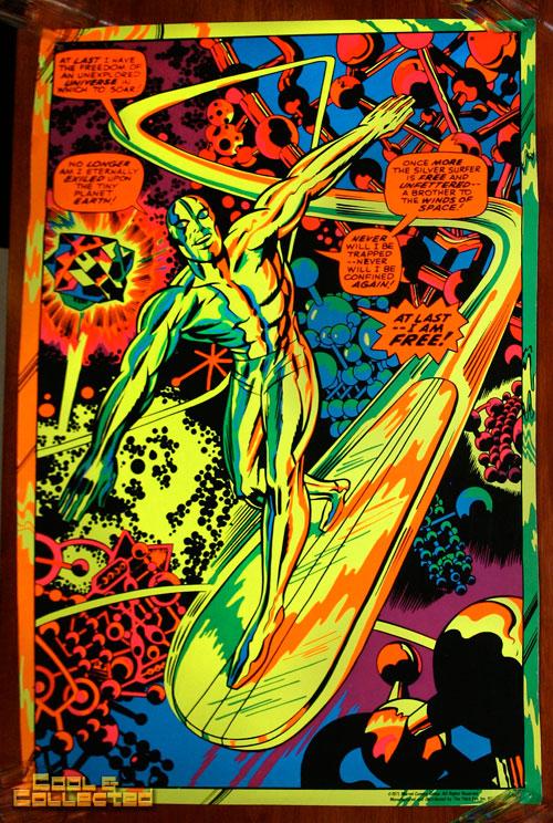 Marvel Third Eye Poster Blacklight Silver Surfer