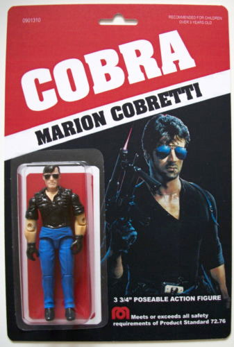 custom action figure: cobra marion cobretti