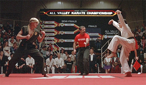 Karate Kid Kick 1984: possibly the gre...