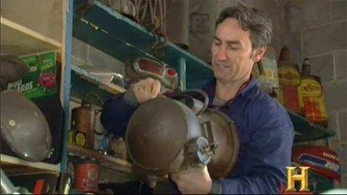 american pickers brass headlight