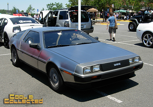 car show Back to the future delorean