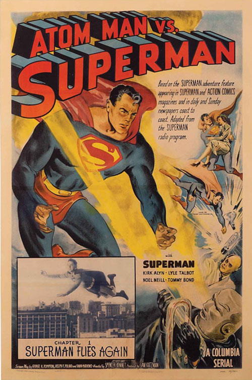 atom man vs superman vintage movie poster one sheet