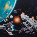 battlestar galactica original art painting
