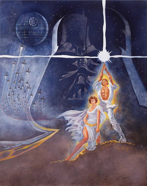 star wars movie poster concept art painting