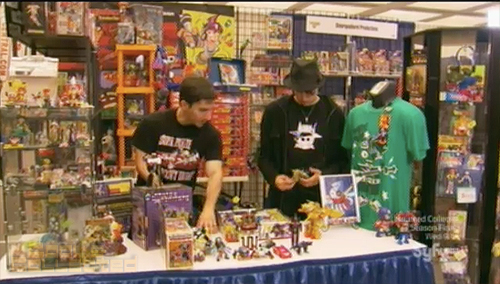 collection intervention Toy Hell booth at Pop-Con