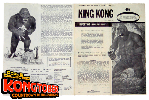 vintage 1966 king kong aurora model kit box