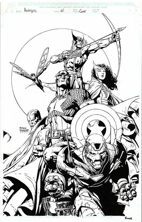 avengers #495 original art