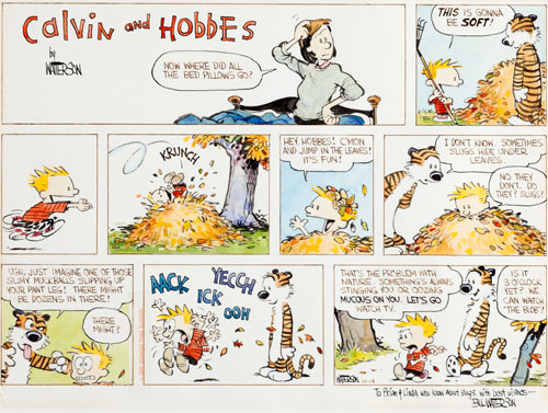 Original Calvin & Hobbes Sunday strip artwork up for bid