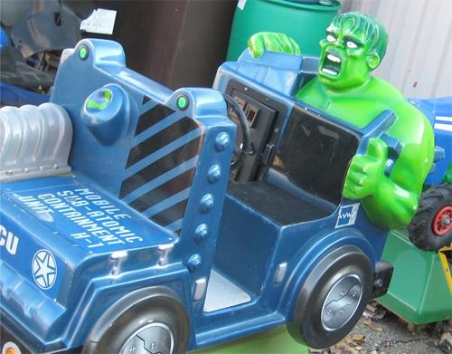hulk kiddie ride