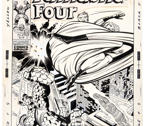 Fantastic Four #95 original Jack Kirby cover art up for bid at Hake's