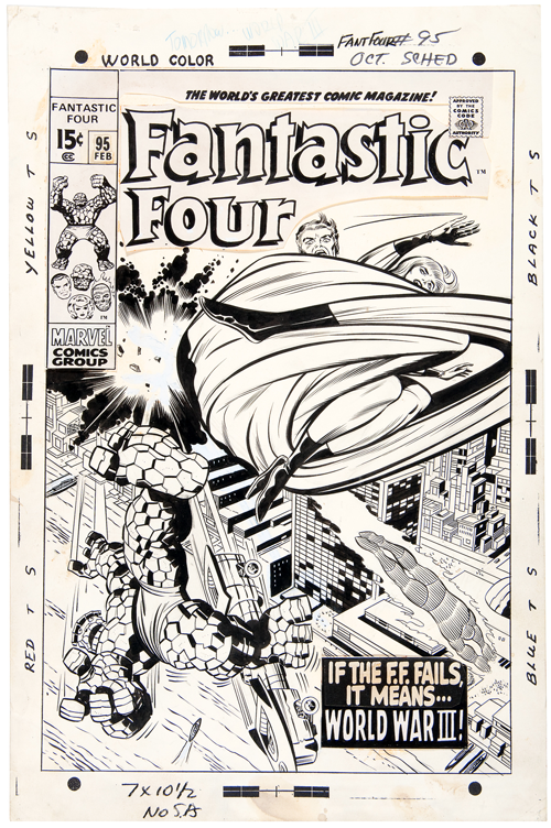 fantastic four #95 jack kirby original art