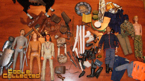 Vintage Johnny West and G.I. Joe figures (they're not dolls!)