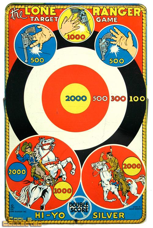 vintage lone ranger target game