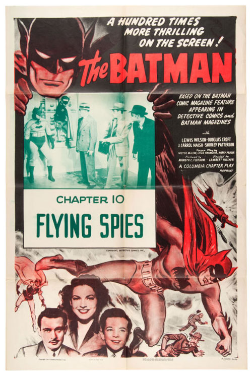 batman flying spies poster