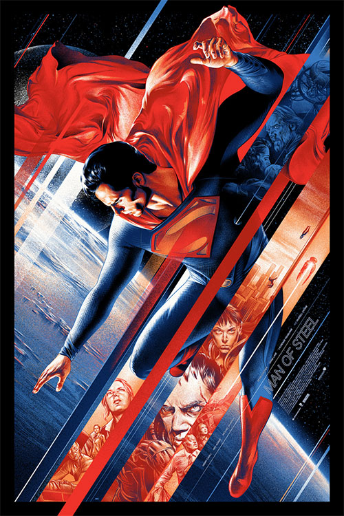martin ansin - mondo - superman poster