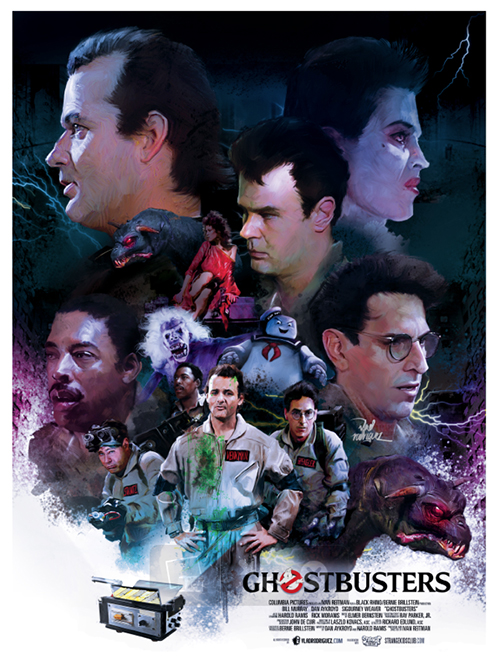 ghostbusters movie poster by vlad rodriguez