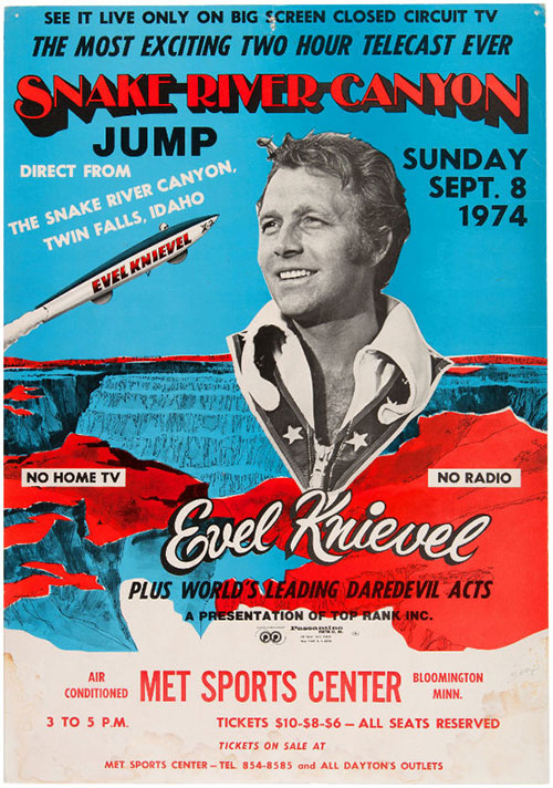 hakes evel knievel poster