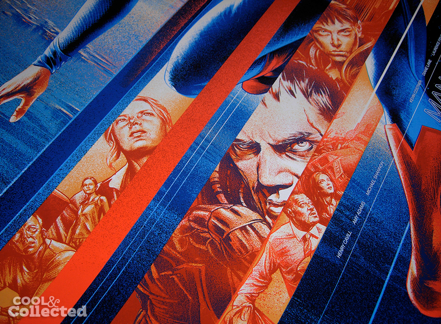 martin ansin superman man of steel mondo poster