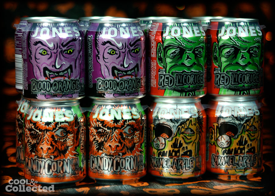 great artwork on these joness halloween flavor sodas - Great Halloween Drinks