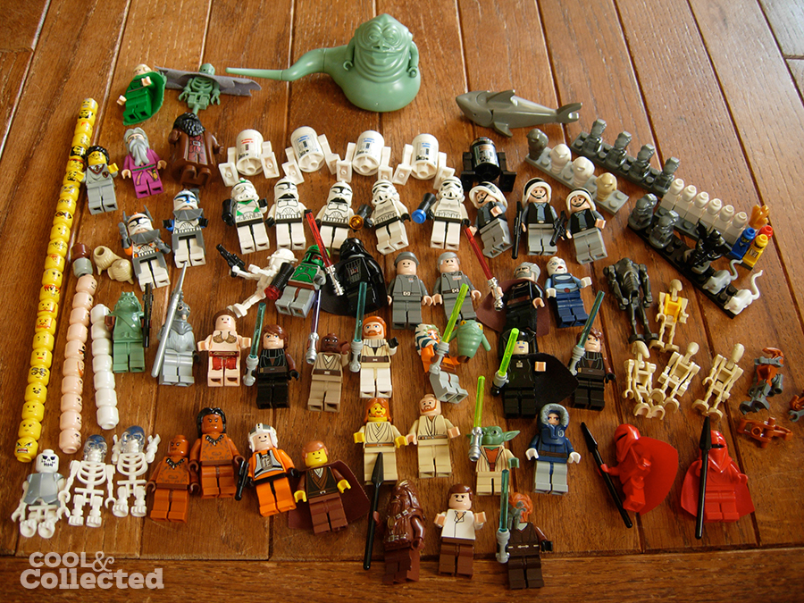 lego star wars minifigs collection