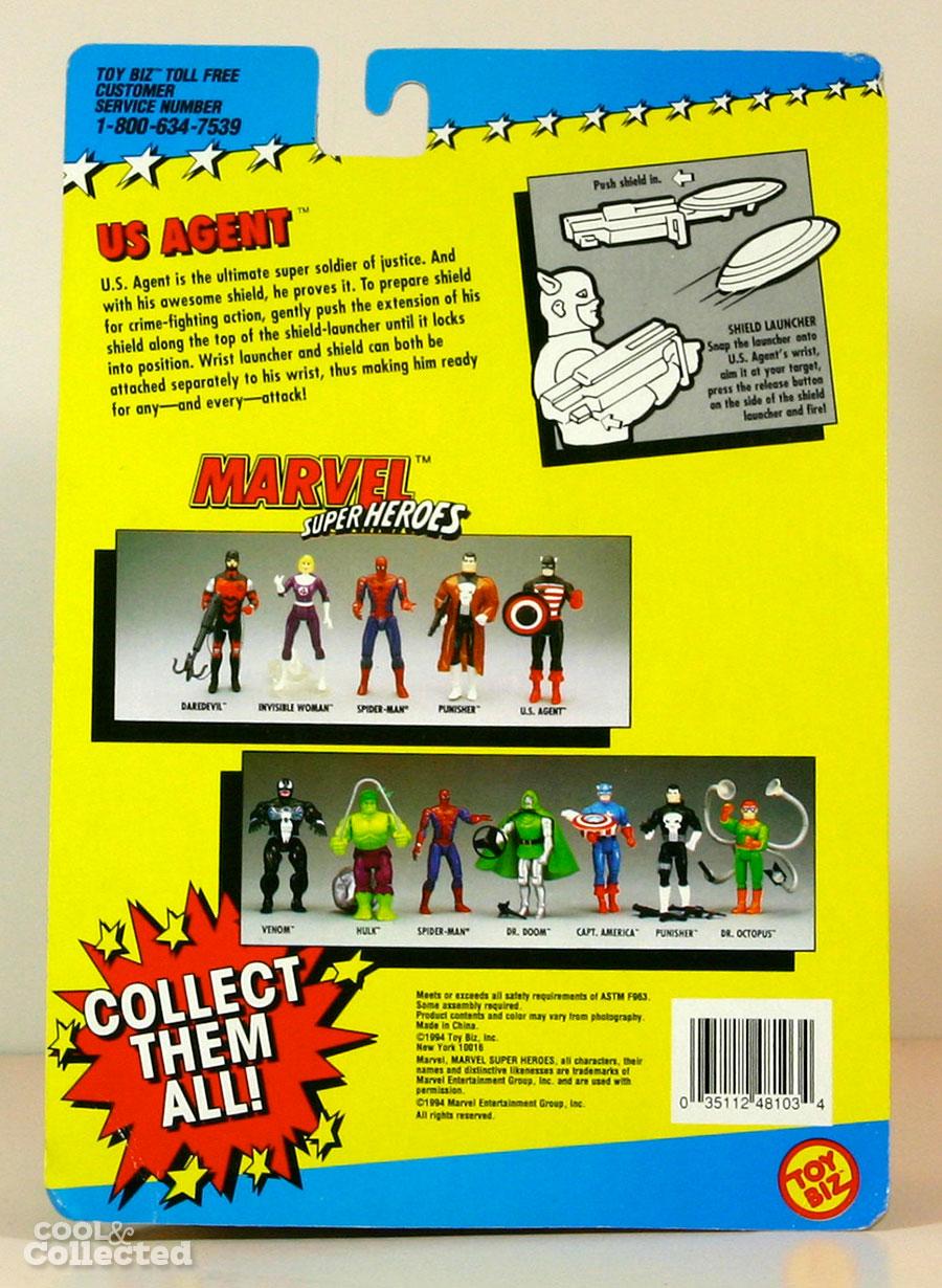 Marvel super heroes u s agent action figure