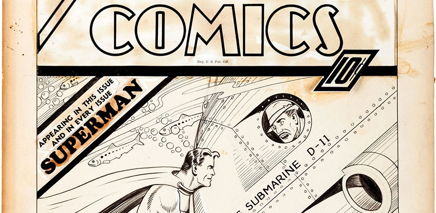 Earliest Superman cover art known to exist is up for bid at Heritage Auctions