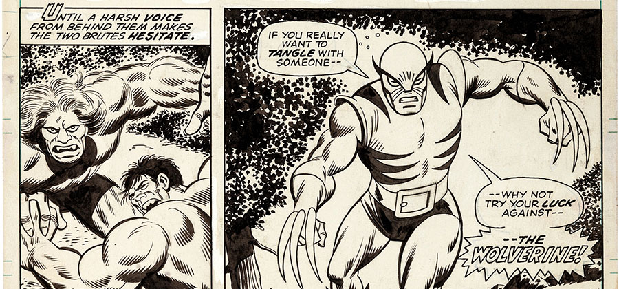 Original artwork of the first appearance of Wolverine up for bid at Heritage Auctions