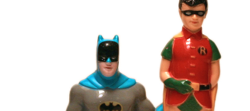Batman and Robin electric toothbrush by Janex
