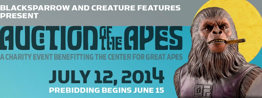 """Auction of the Apes"" at Blacksparrow Auctions"