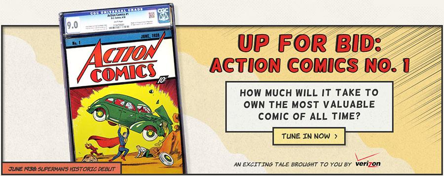 Action Comics #1, CGC 9.0 on eBay!