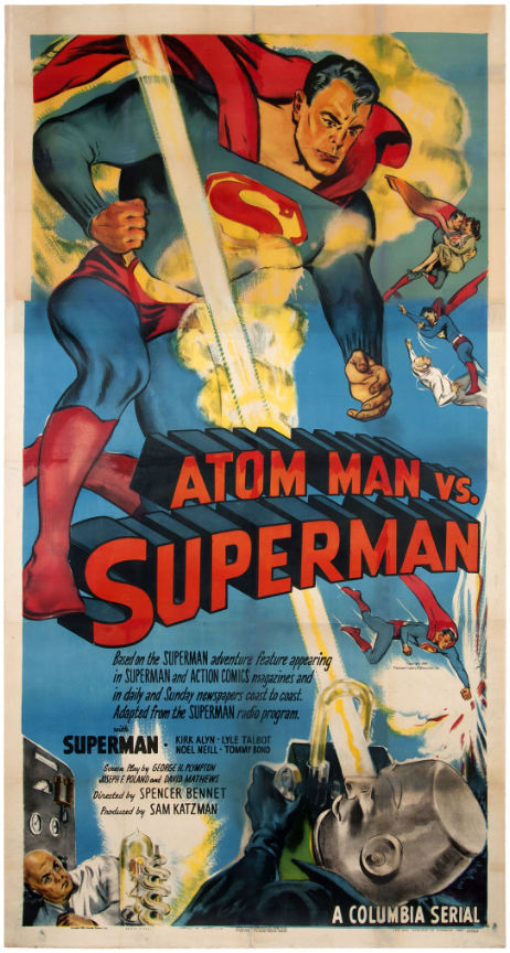 atom man vs superman poster