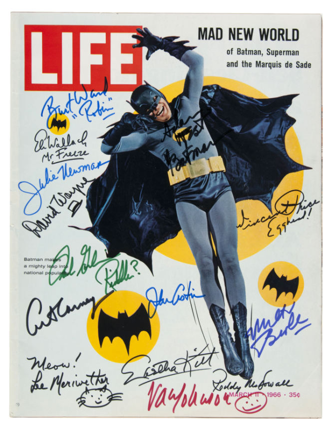 batman signed life magazine