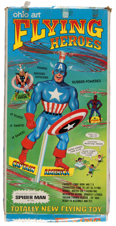 marvel flying heroes propeller toy