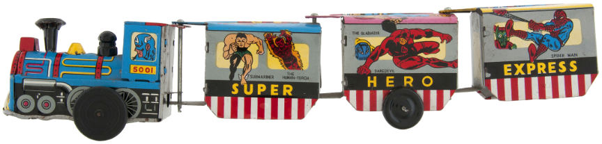 Marx marvel super hero express tin train
