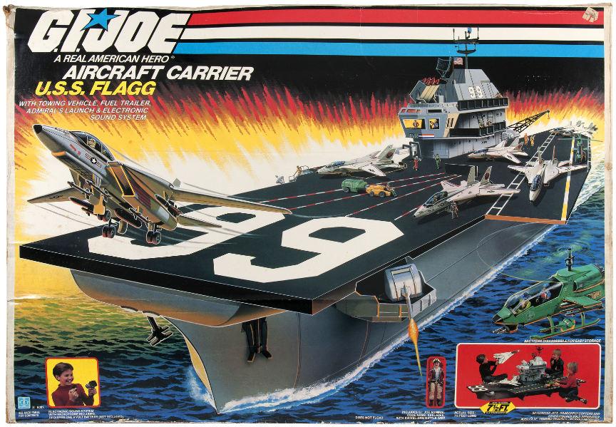 GI Joe USS Flagg aircraft carrier