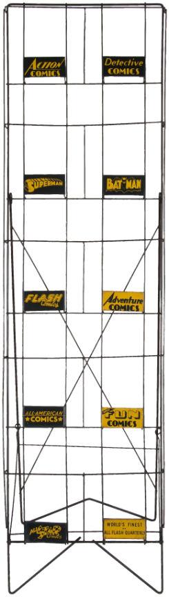 vintage comic book rack