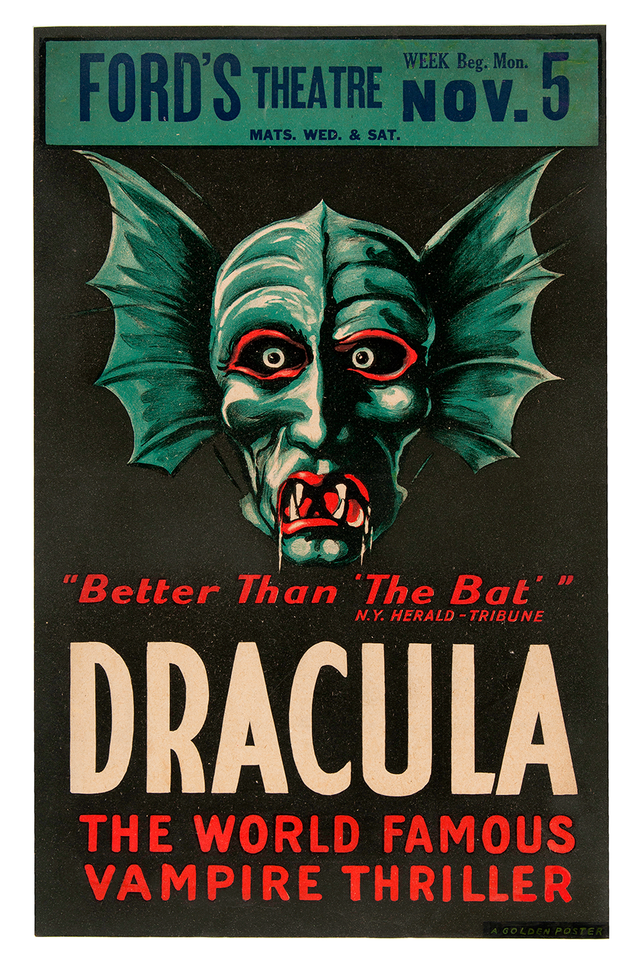 fords theatre dracula poster