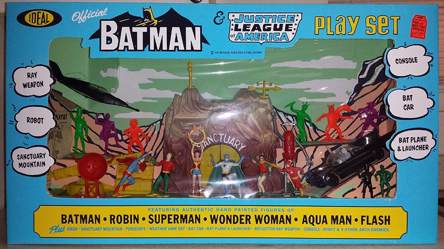 batman justice league playset