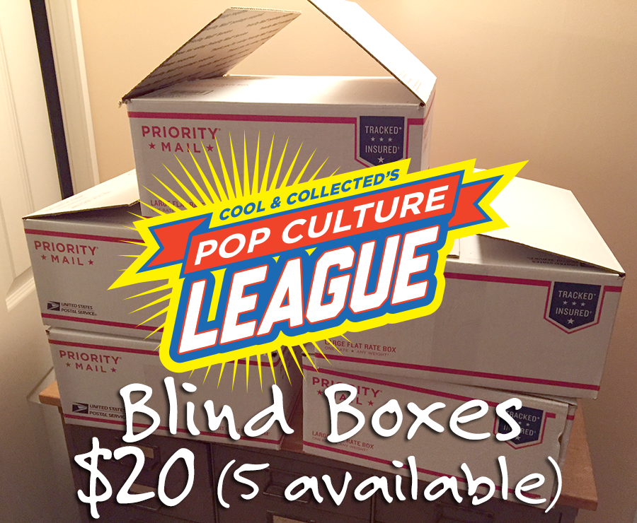 Blind boxes for Pop Culture League members