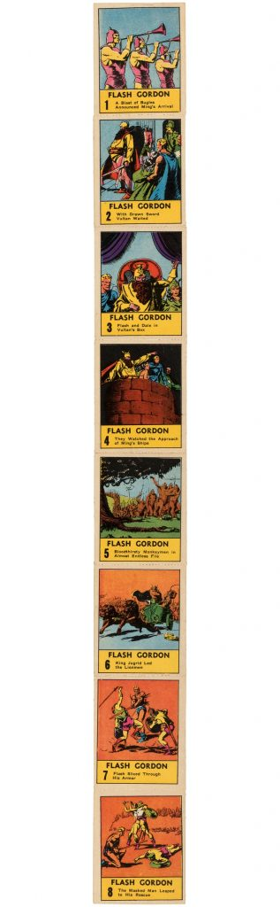 flash gordon big little book cards